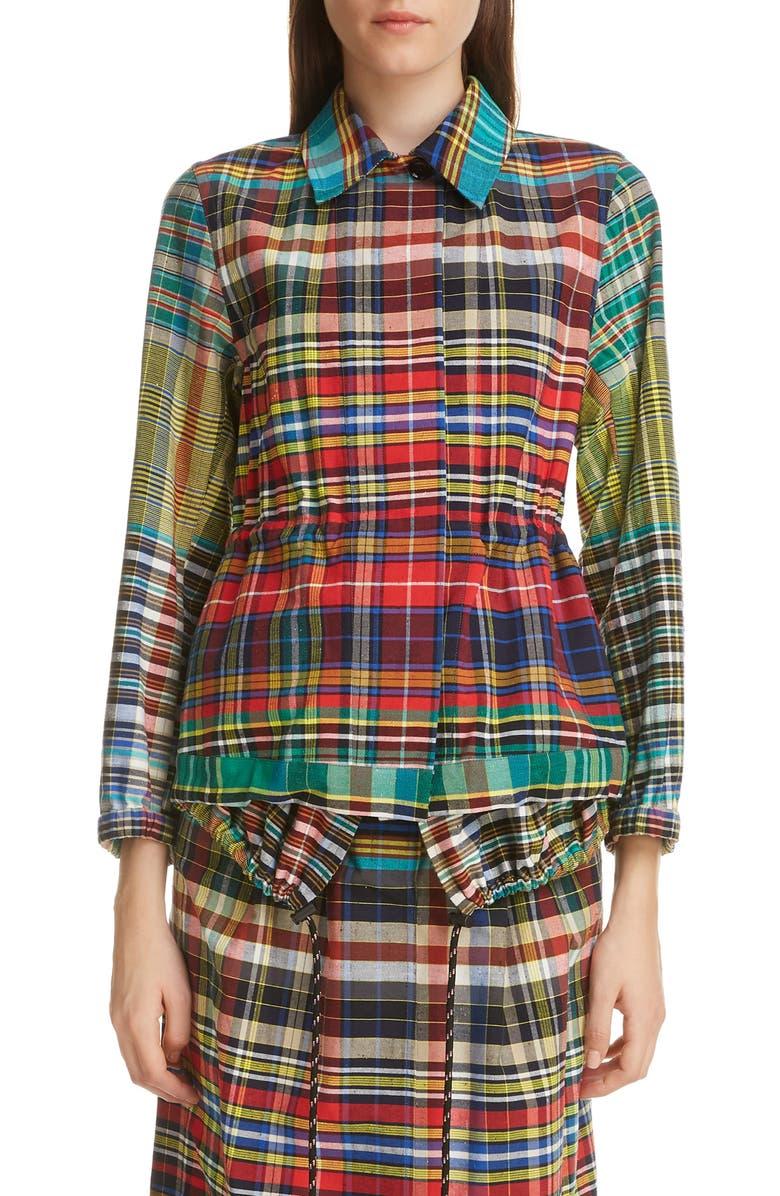 DRIES VAN NOTEN Varella Madras Plaid Cotton Jacket, Main, color, 600