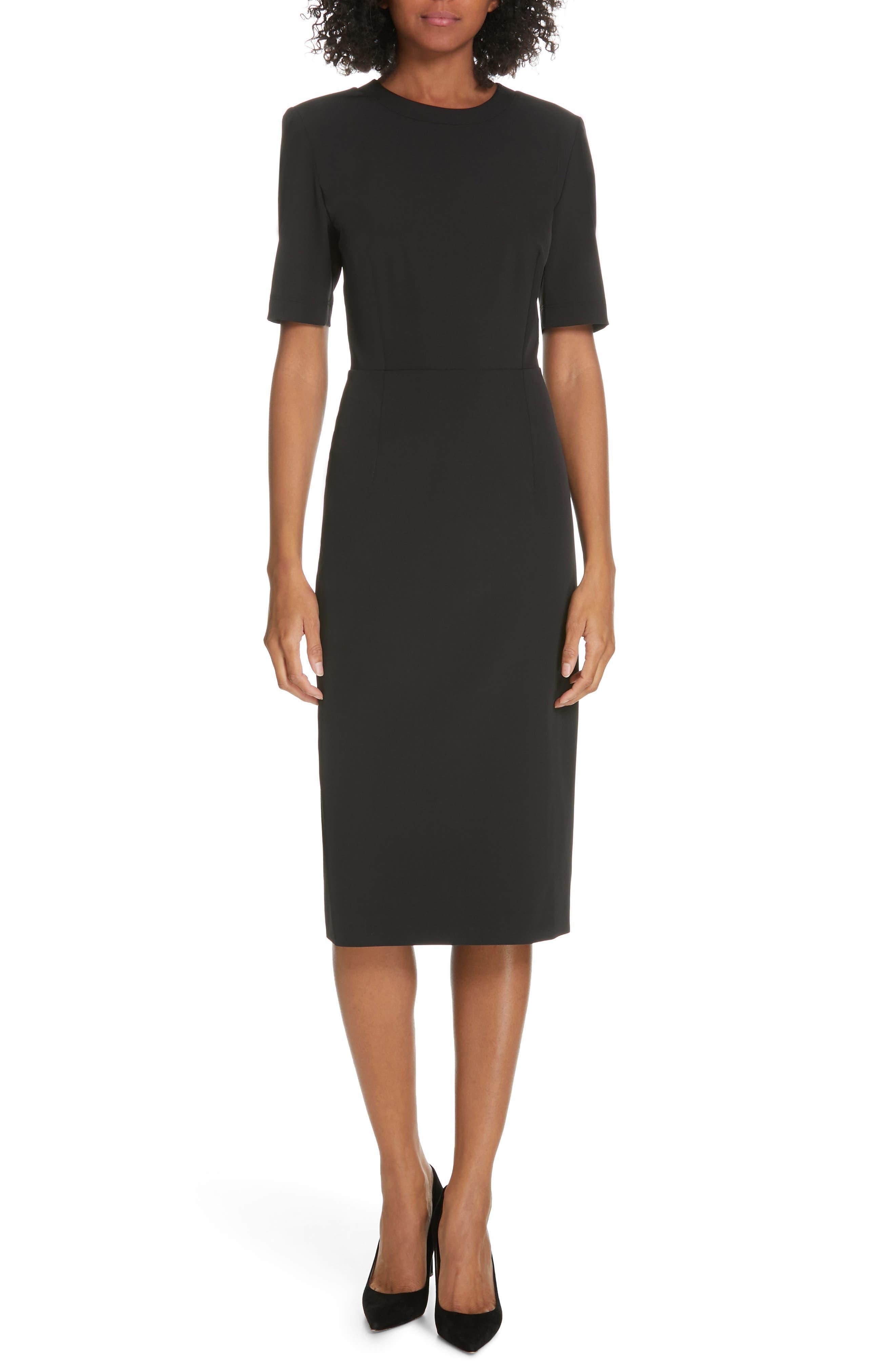 Judith & Charles Construct Dress, Black