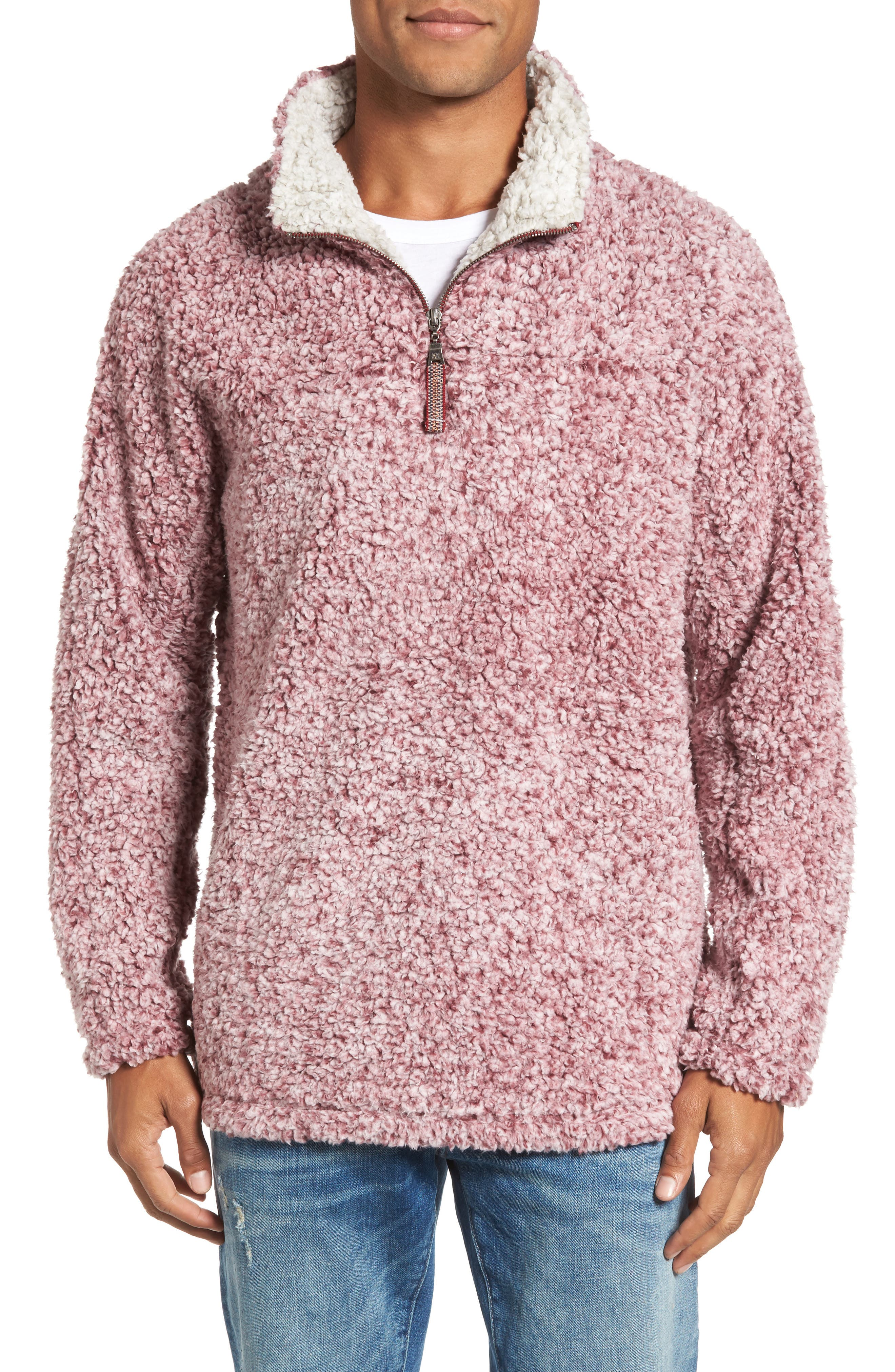,                             Frosty Tipped Quarter Zip Pullover,                             Main thumbnail 43, color,                             601