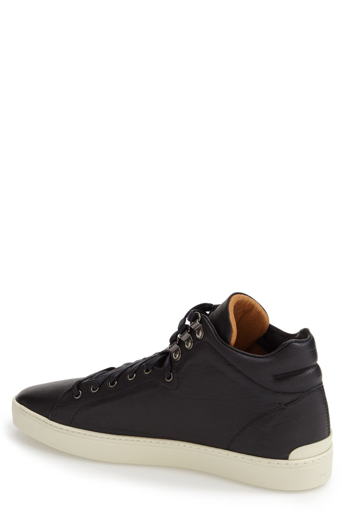 ,                             'Kent' Leather High Top Sneaker,                             Alternate thumbnail 2, color,                             001