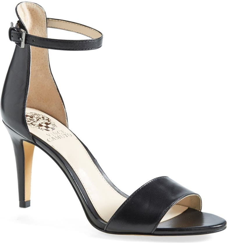 VINCE CAMUTO 'Court' Ankle Strap Sandal, Main, color, 001