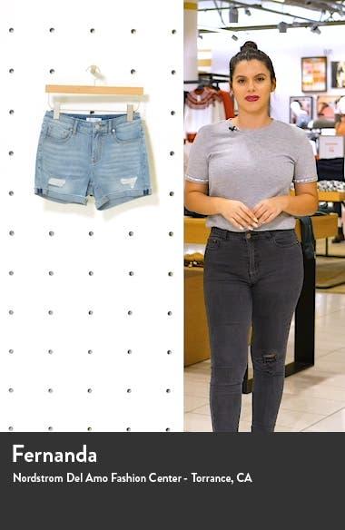 Marley Distressed Denim Shorts, sales video thumbnail