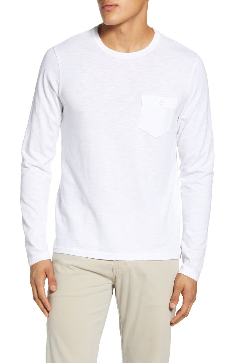 TODD SNYDER Long Sleeve Pocket T-Shirt, Main, color, 100
