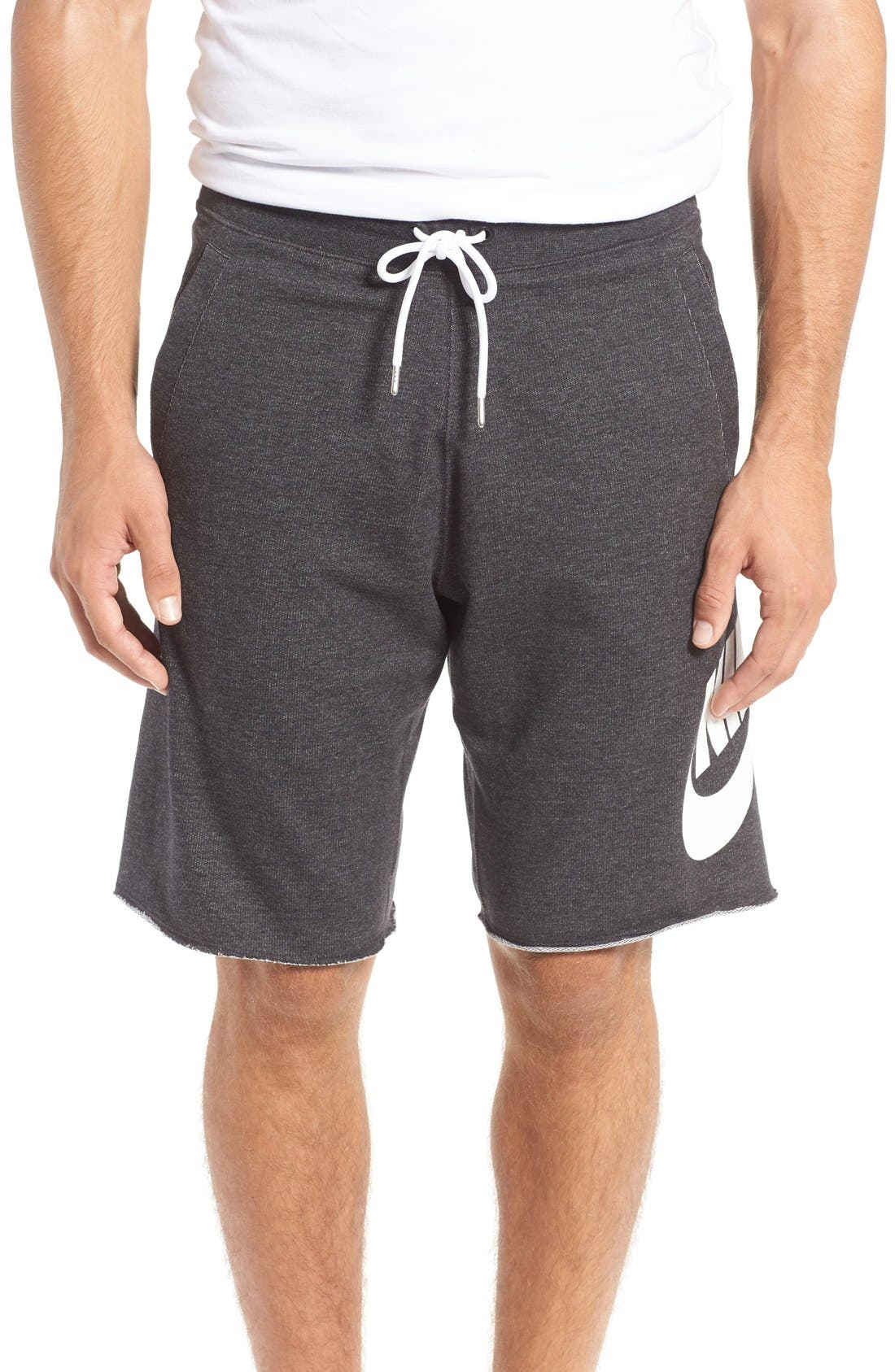 ,                             'NSW' Logo French Terry Shorts,                             Main thumbnail 14, color,                             032