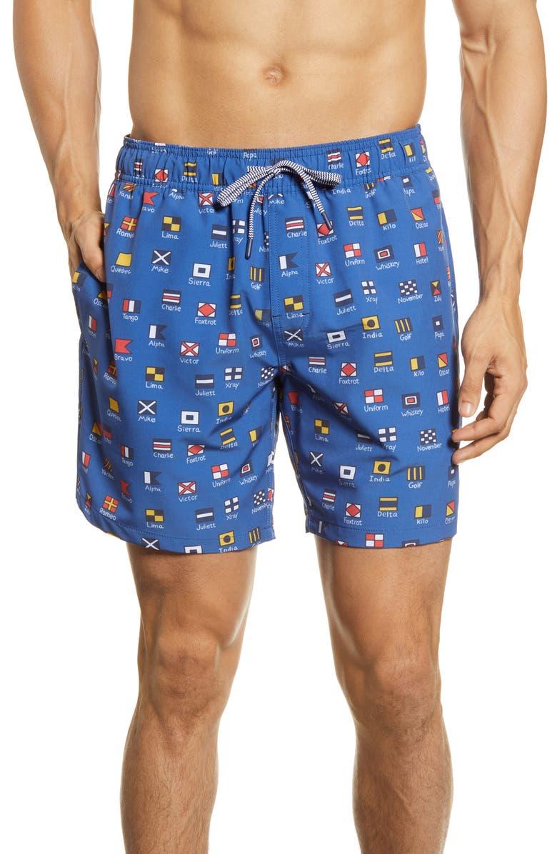 REYN SPOONER Charlie Foxtrot Swim Trunks, Main, color, 420