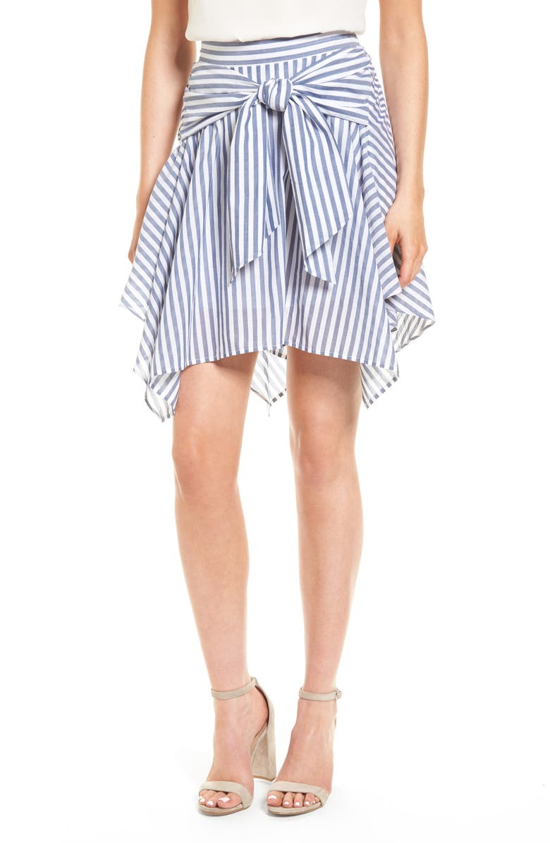 BP. Tie Waist Handkerchief Hem Skirt, Main, color, 410