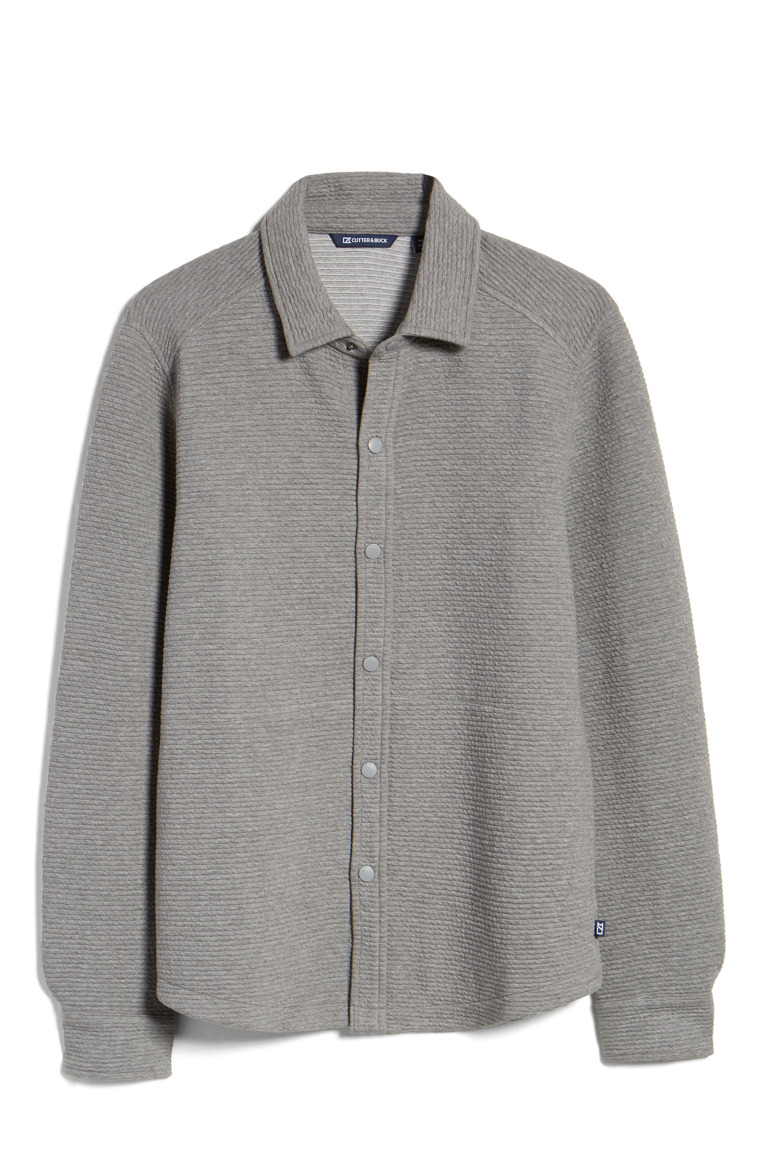 Coastal Ribbed Shirt Jacket
