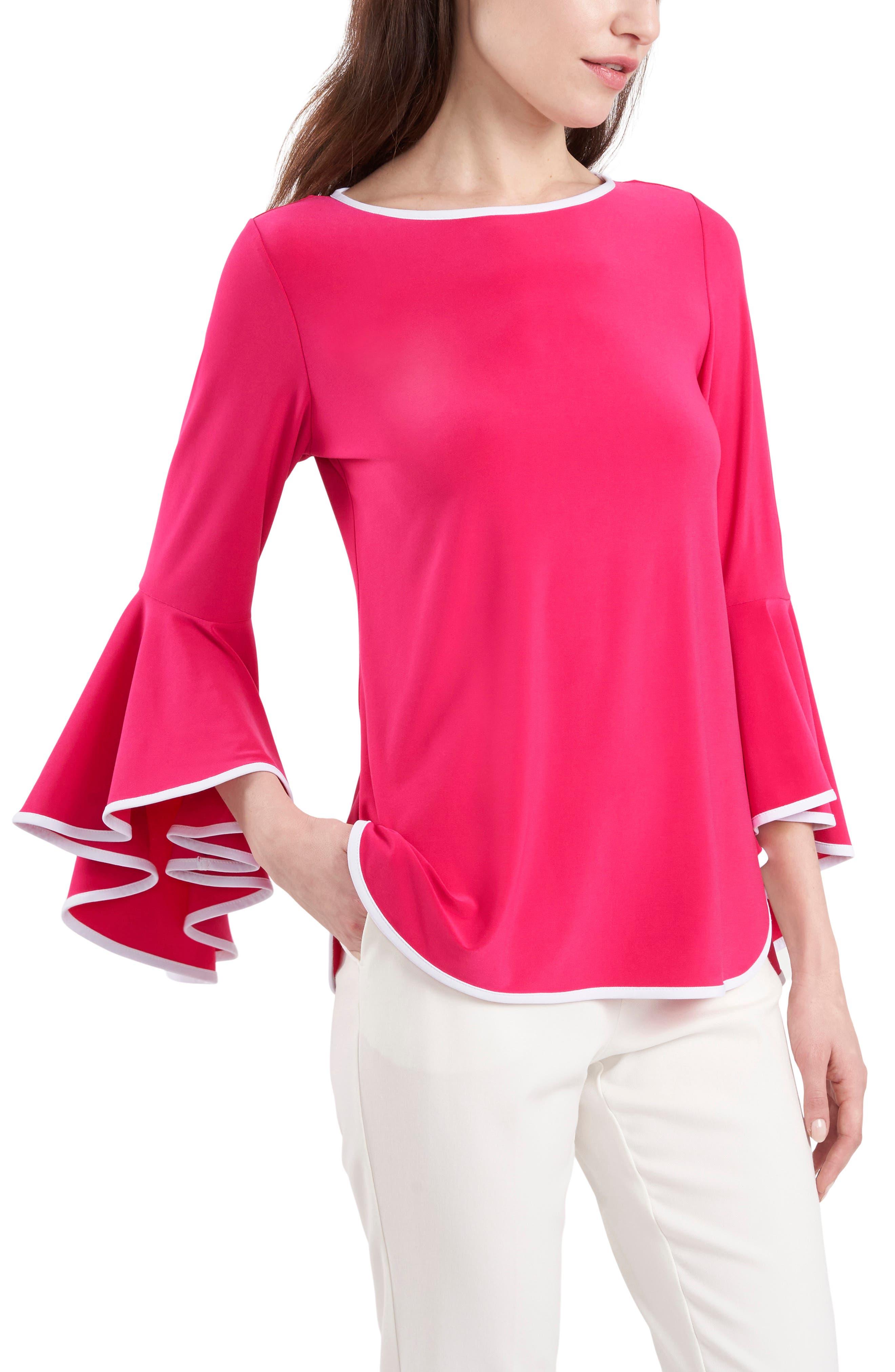 Bell Sleeve Jersey Top