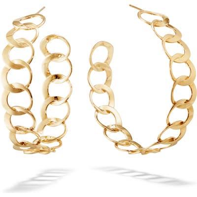 Lana Jewelry Casino Wide Bond Hoop Earrings
