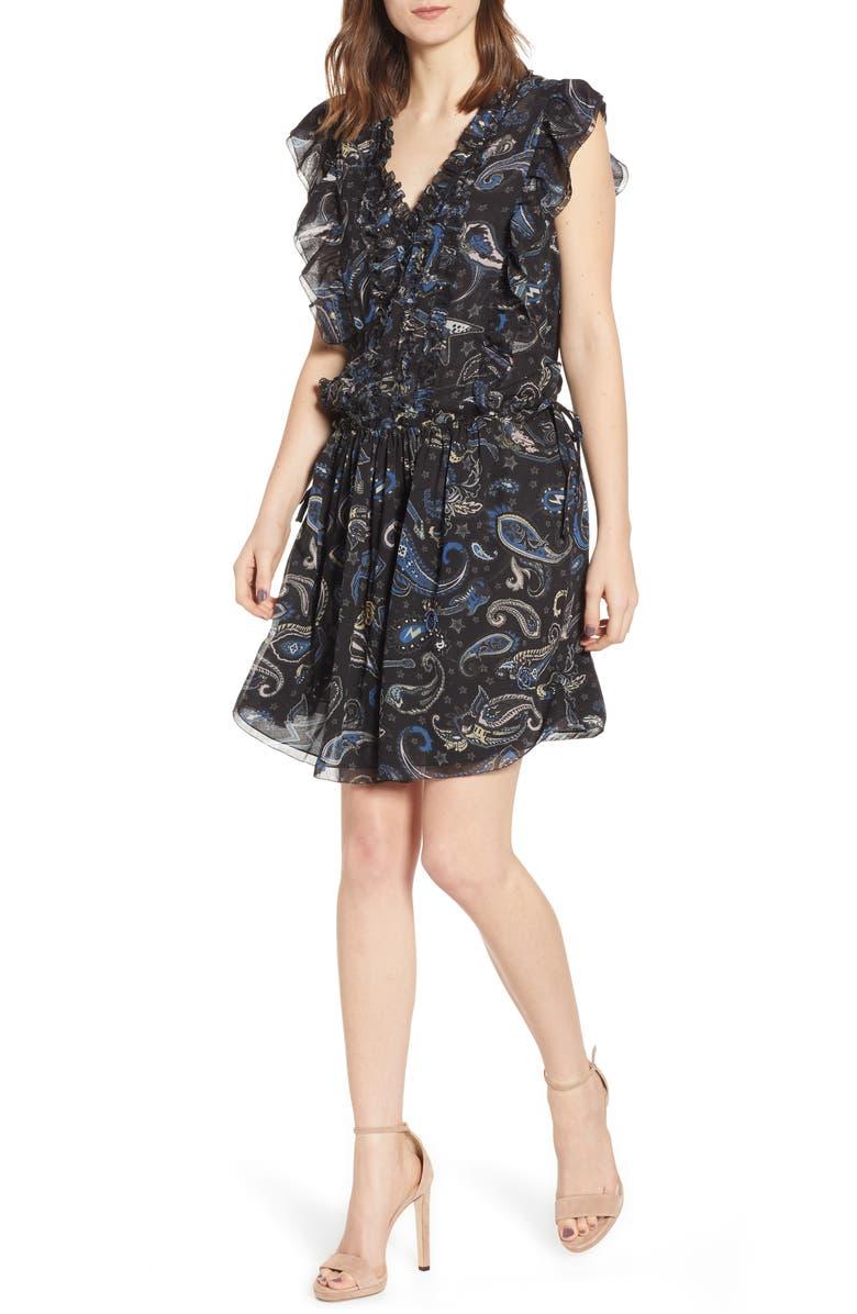 ZADIG & VOLTAIRE Rimana Paisley Dress, Main, color, 001