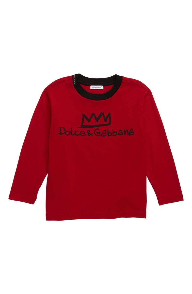 DOLCE&GABBANA Logo T-Shirt, Main, color, BRIGHT RED