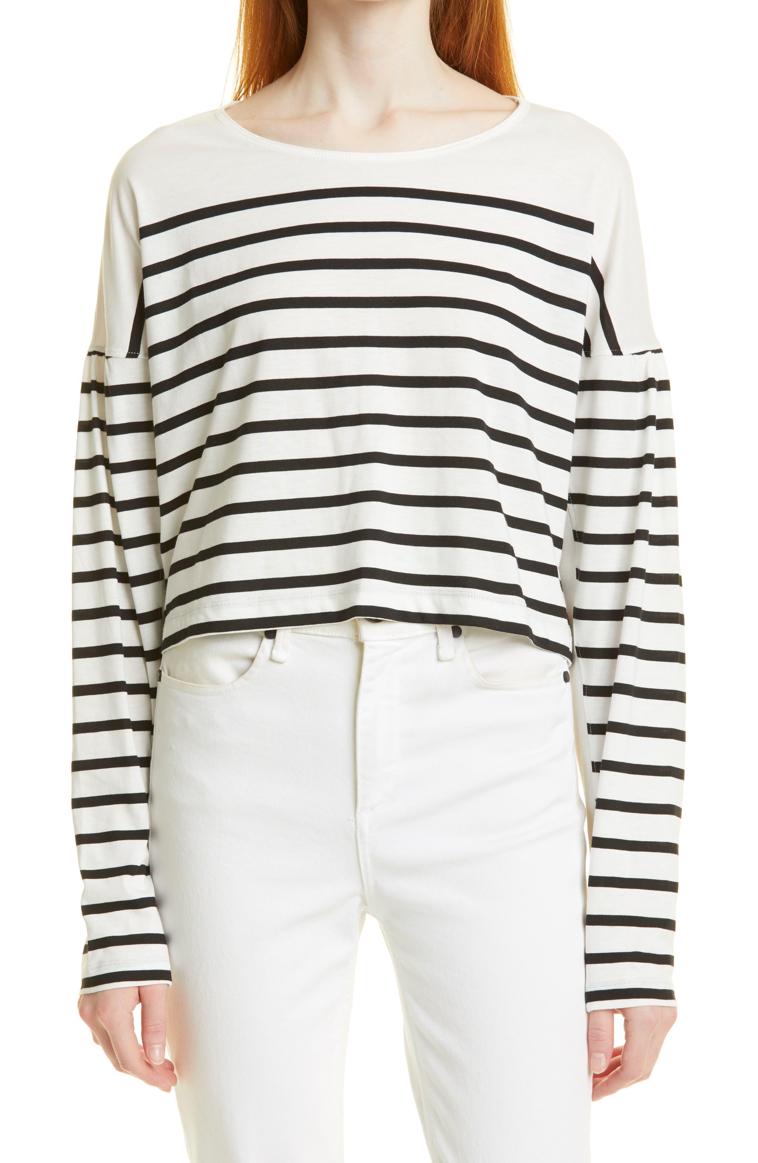 Stripe Long Sleeve Cotton Top