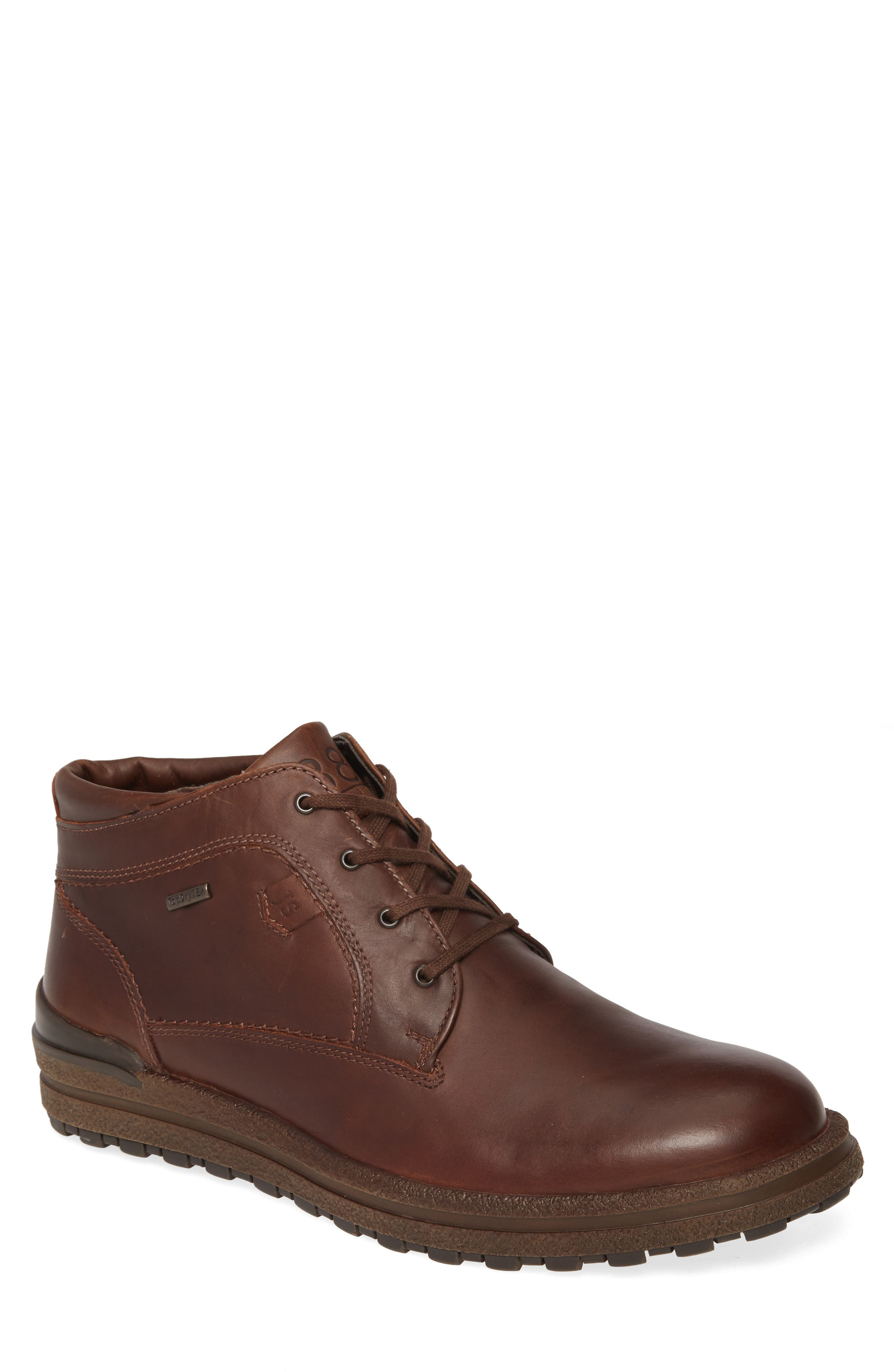 Cushioned arch support and waterproof construction mean all-day comfort in a handsome chukka boot built from fine full-grain leather. Style Name: Josef Seibel Emil 59 Waterproof Chukka Boot (Men). Style Number: 5837304. Available in stores.