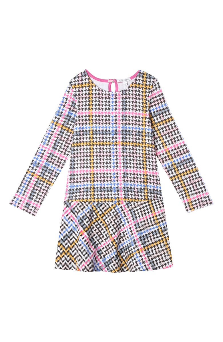 ART & EDEN Caitlin Houndstooth Dress, Main, color, MULTI COLOR HOUNDSTOOTH