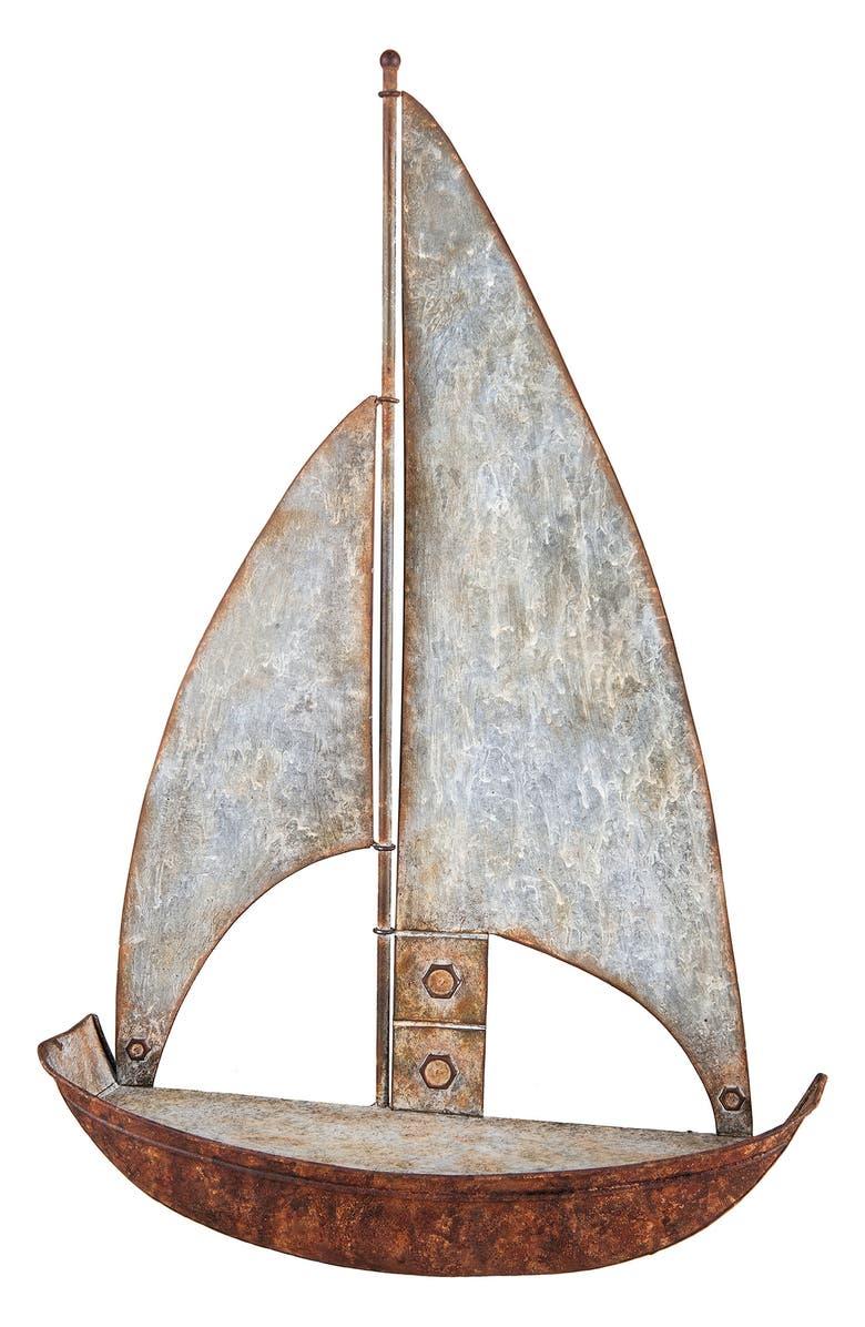 FORESIDE Sailboat Shelf, Main, color, METAL