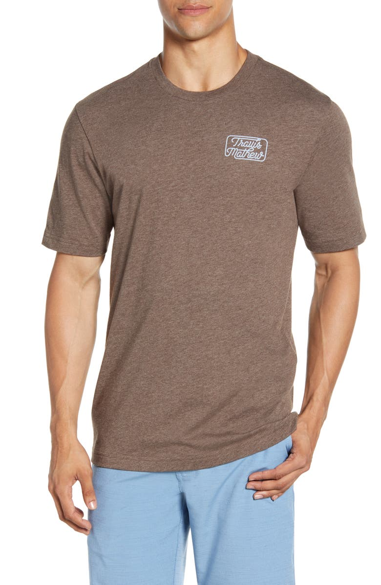 TRAVISMATHEW Dollar Menu Regular Fit T-Shirt, Main, color, HEATHER COFFEE
