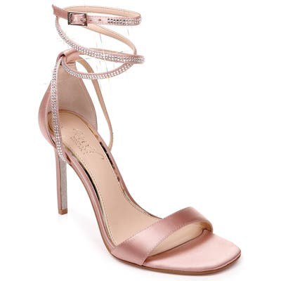 Jewel Badgley Mischka Shaylee Crystal Embellished Sandal, Pink