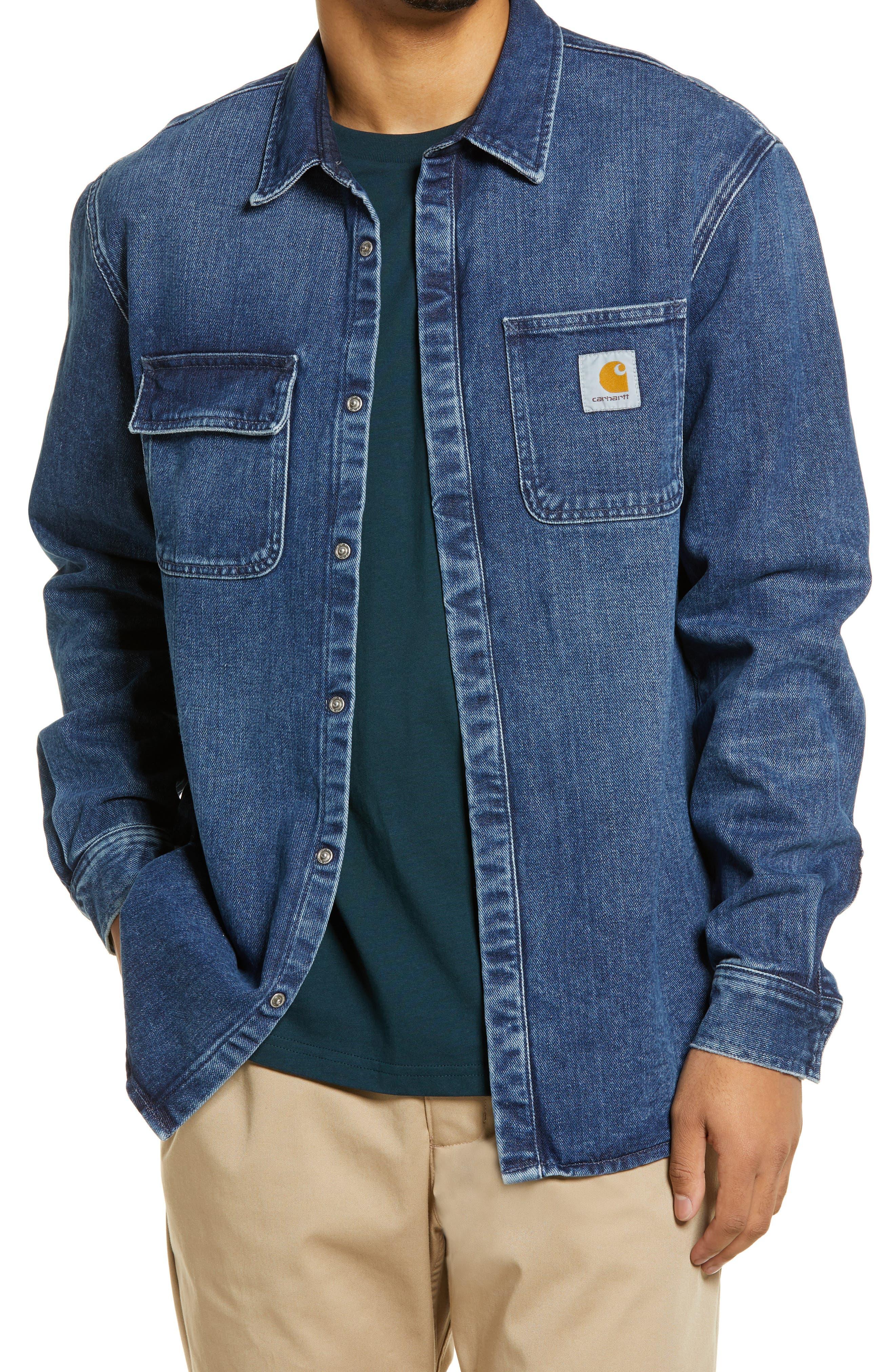 Men's Carhartt Work In Progress Men's Salinac Denim Shirt Jacket
