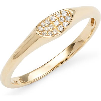 Bony Levy Diamond & 18K Gold Signet Ring (Nordstrom Exclusive)
