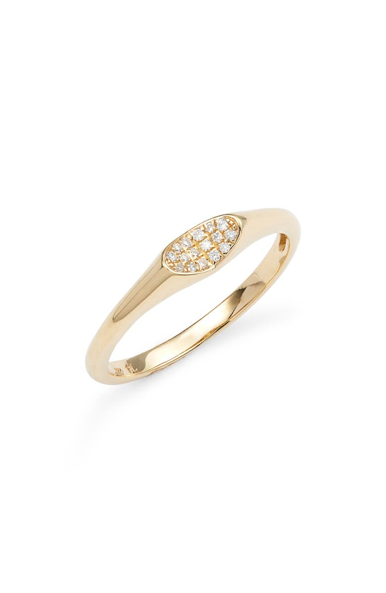 Bony Levy Diamond 18K Gold Signet Ring Exclusive