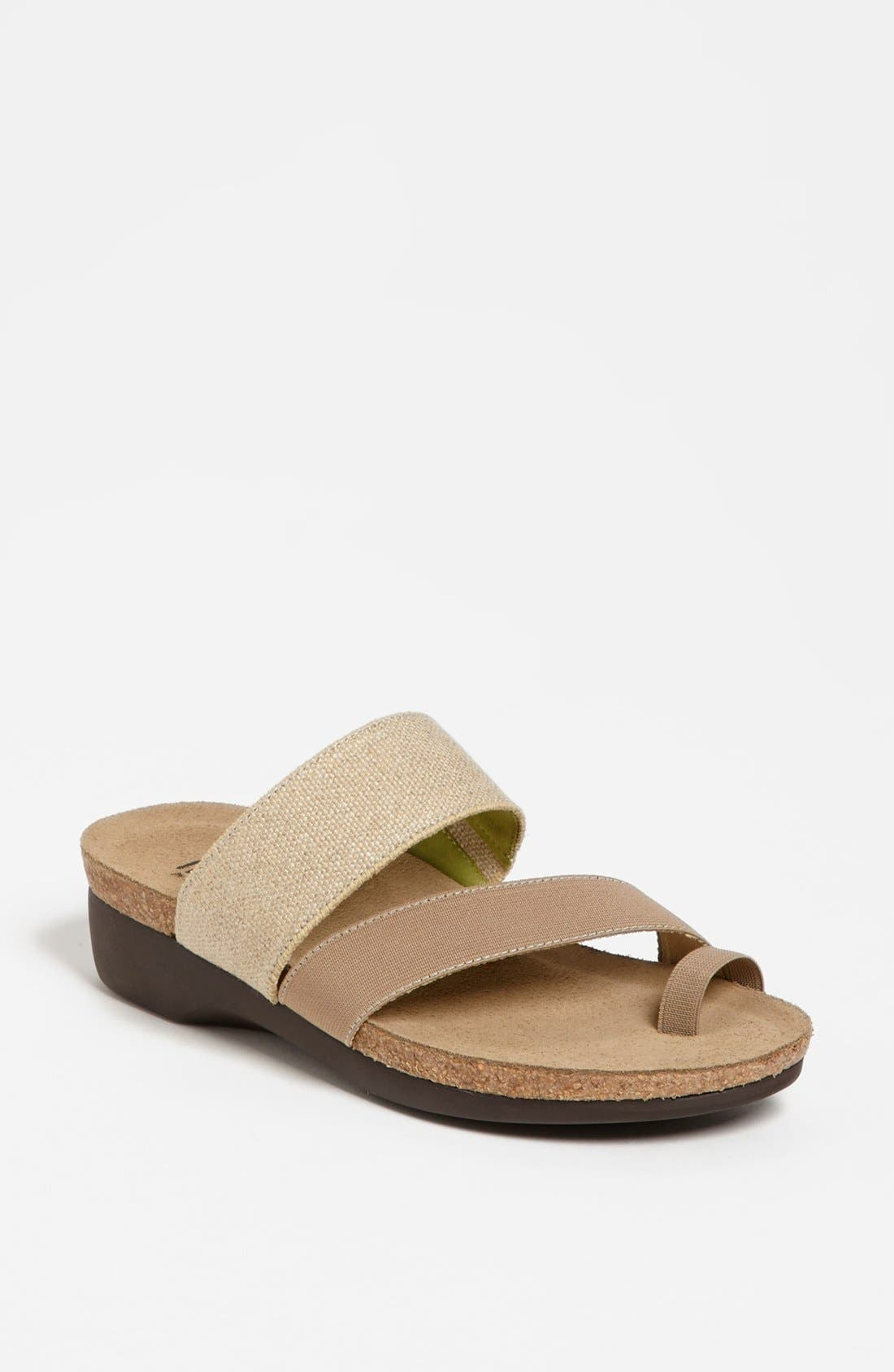 Built-in stretch perfects the fit of a comfort-savvy sandal with clean, contemporary curves. Style Name: Munro \\\'Aries\\\' Sandal. Style Number: 902883. Available in stores.
