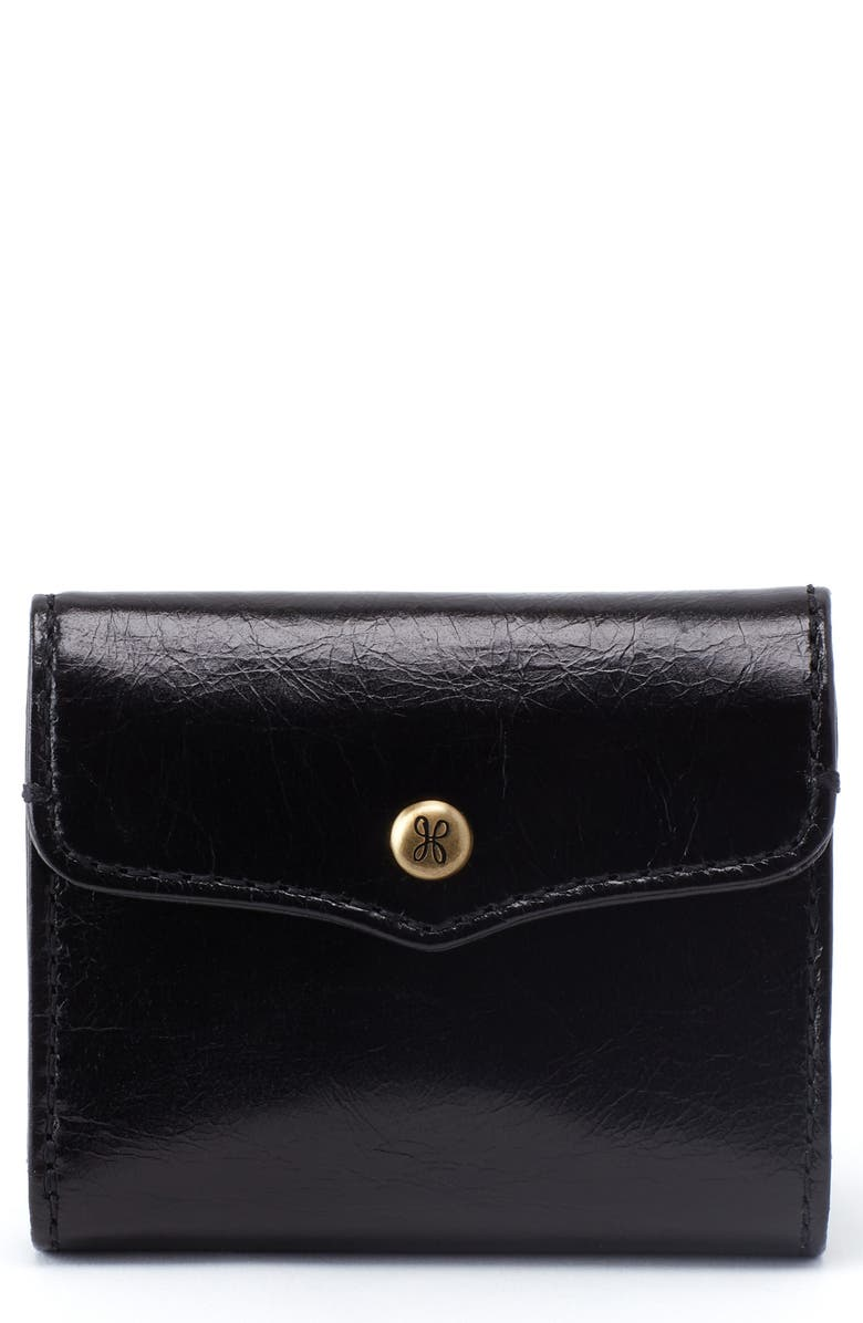 HOBO Luck Leather Wallet, Main, color, BLACK
