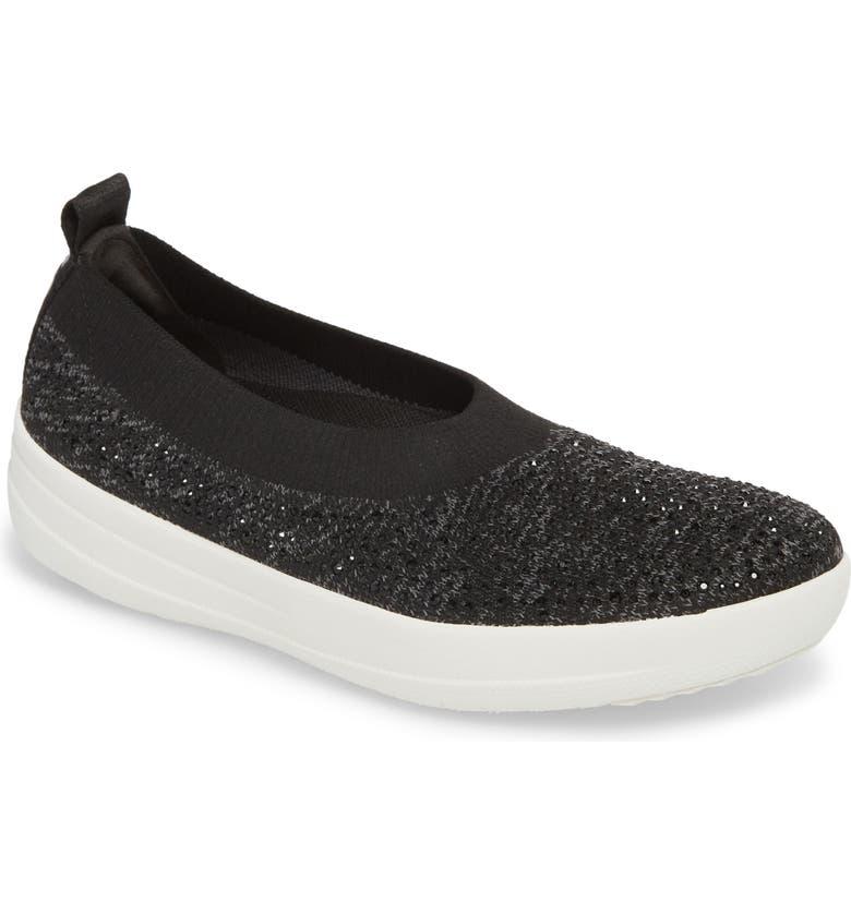 FITFLOP Uberknit Slip-On Sneaker, Main, color, 001