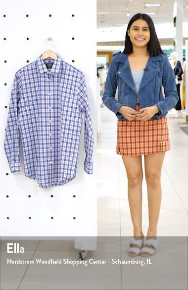 Traditional Fit Non-Iron Plaid Dress Shirt, sales video thumbnail