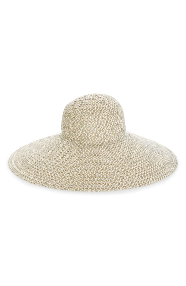ERIC JAVITS Floppy Straw Hat, Main, color, 165