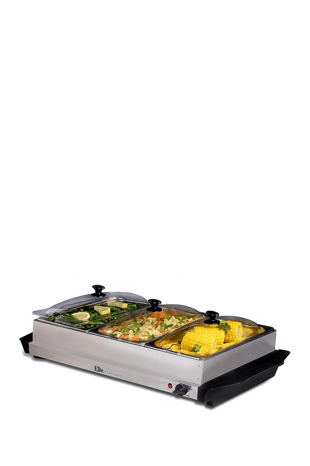 Image of MAXI-MATIC Elite Platinum 3 x 2.5 Qt. Stainless Steel Electric Buffet Server Food Warmer