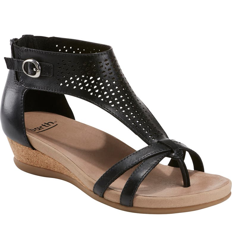 EARTH<SUP>®</SUP> Olea Sandal, Main, color, BLACK LEATHER