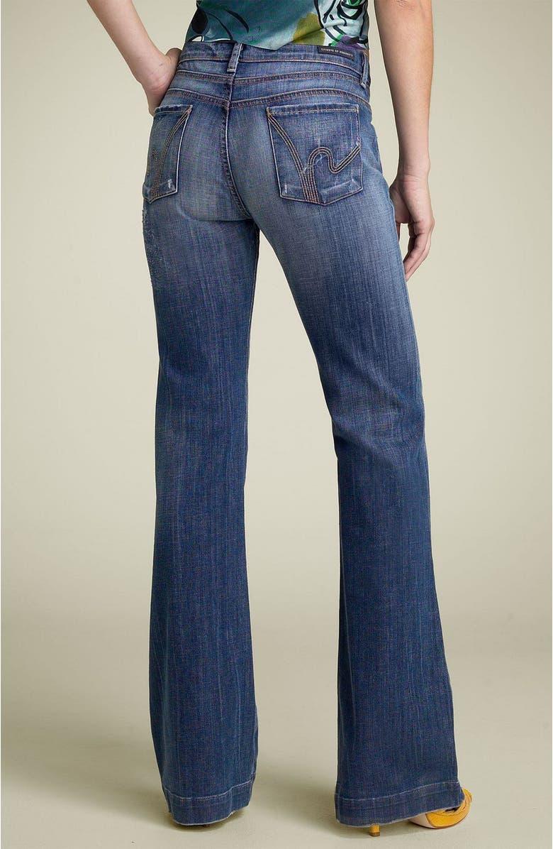 f4d612d91b4 'Hutton' High Rise Wide Leg Stretch Denim Trousers, Main, color, ...