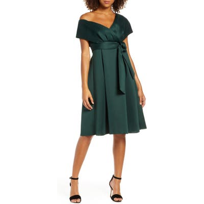 Chi Chi London Edel Cocktail Dress, Green
