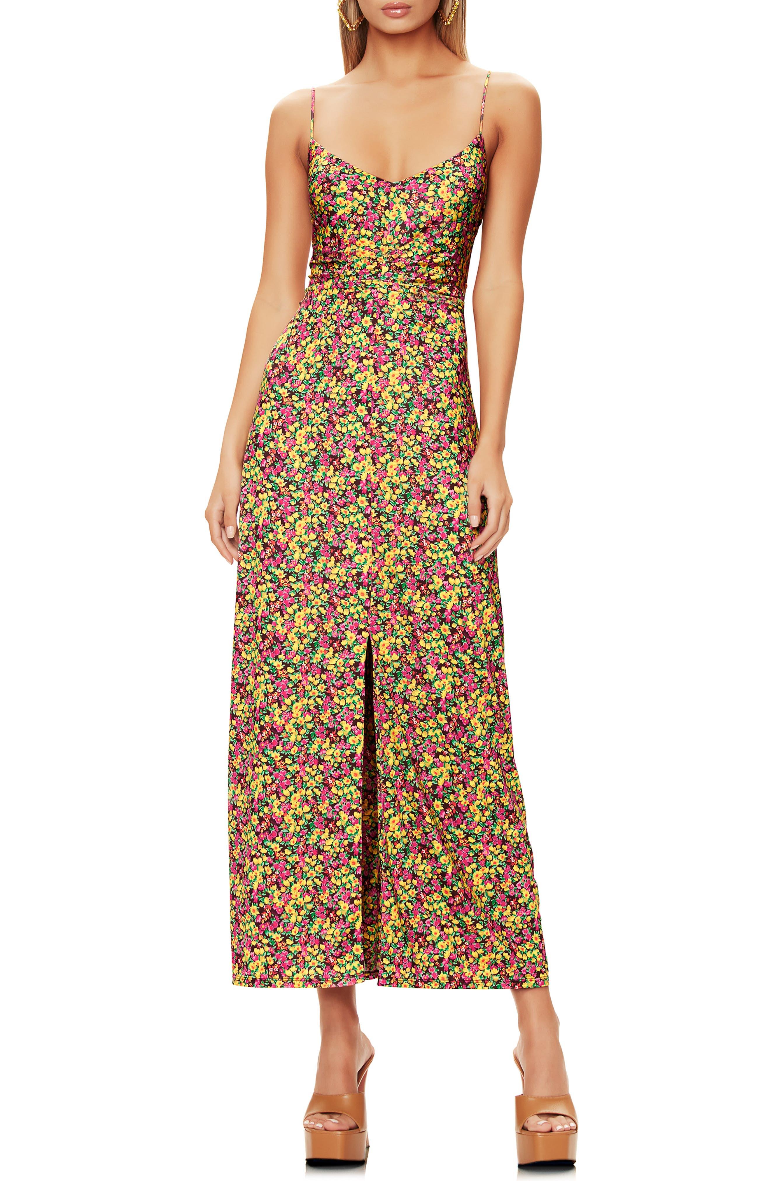 Jalen Ruched Split Front Dress