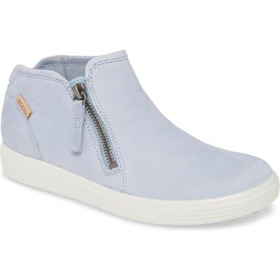 Ecco Soft 7 Mid Top Sneaker, Blue