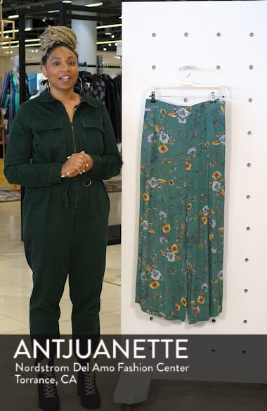 Pam Floral Smock Back Wide Leg Pants, sales video thumbnail