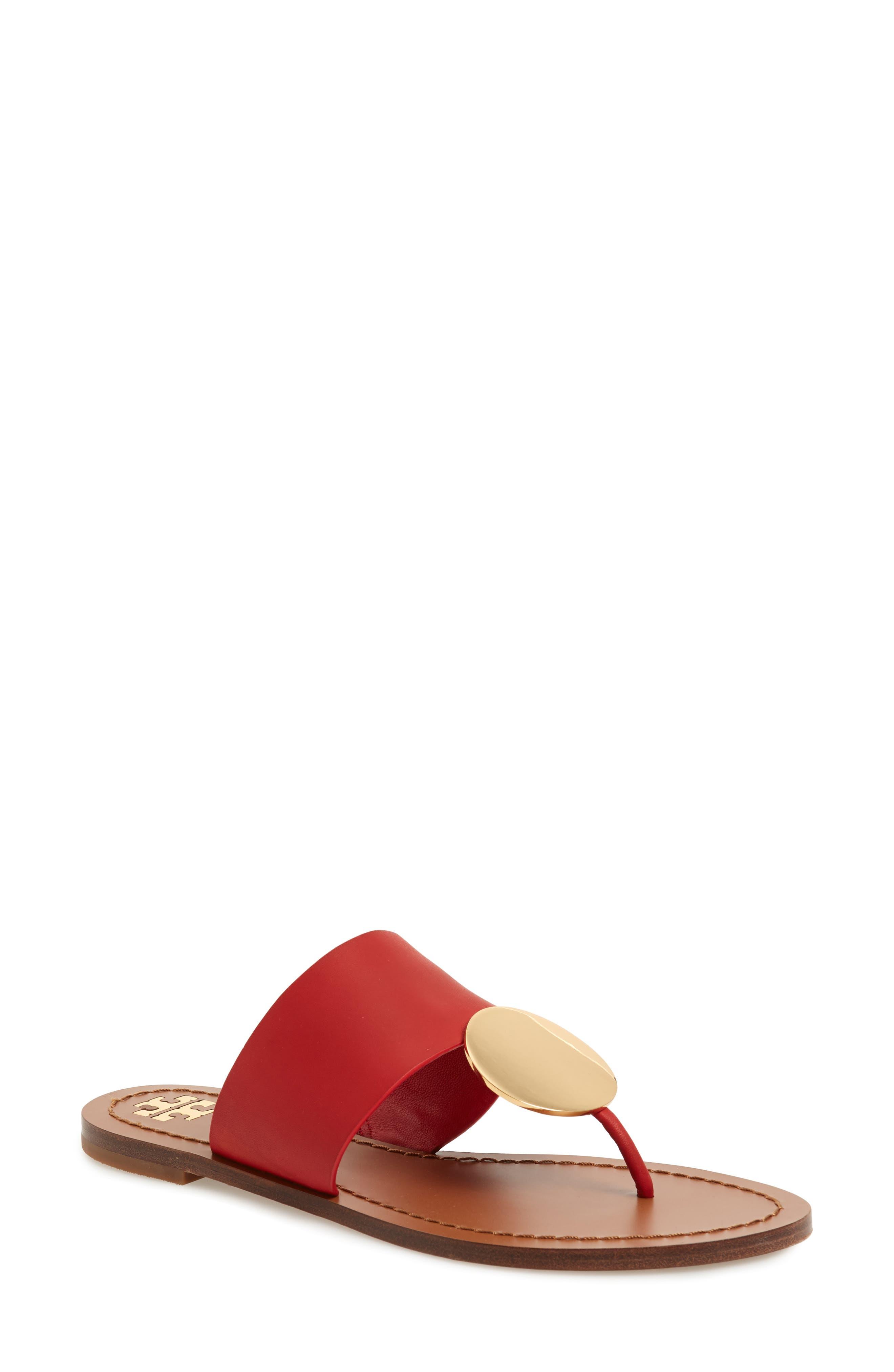 Tory Burch Patos Sandal- Red