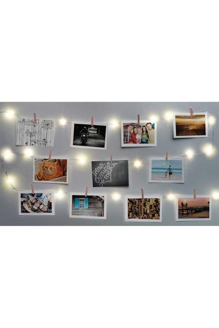 Image of Merkury Innovations 15ft. Firefly Photo Clip Lights - Rose Gold