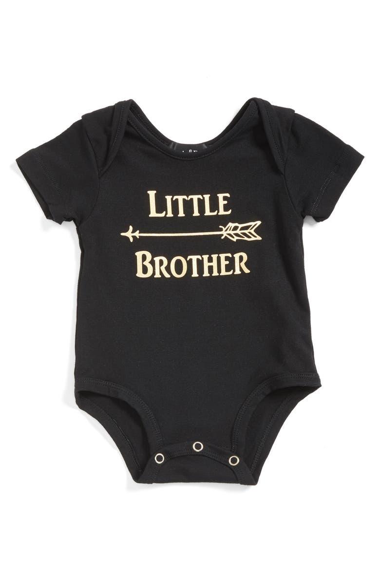 POPATU Little Brother Bodysuit, Main, color, BLACK
