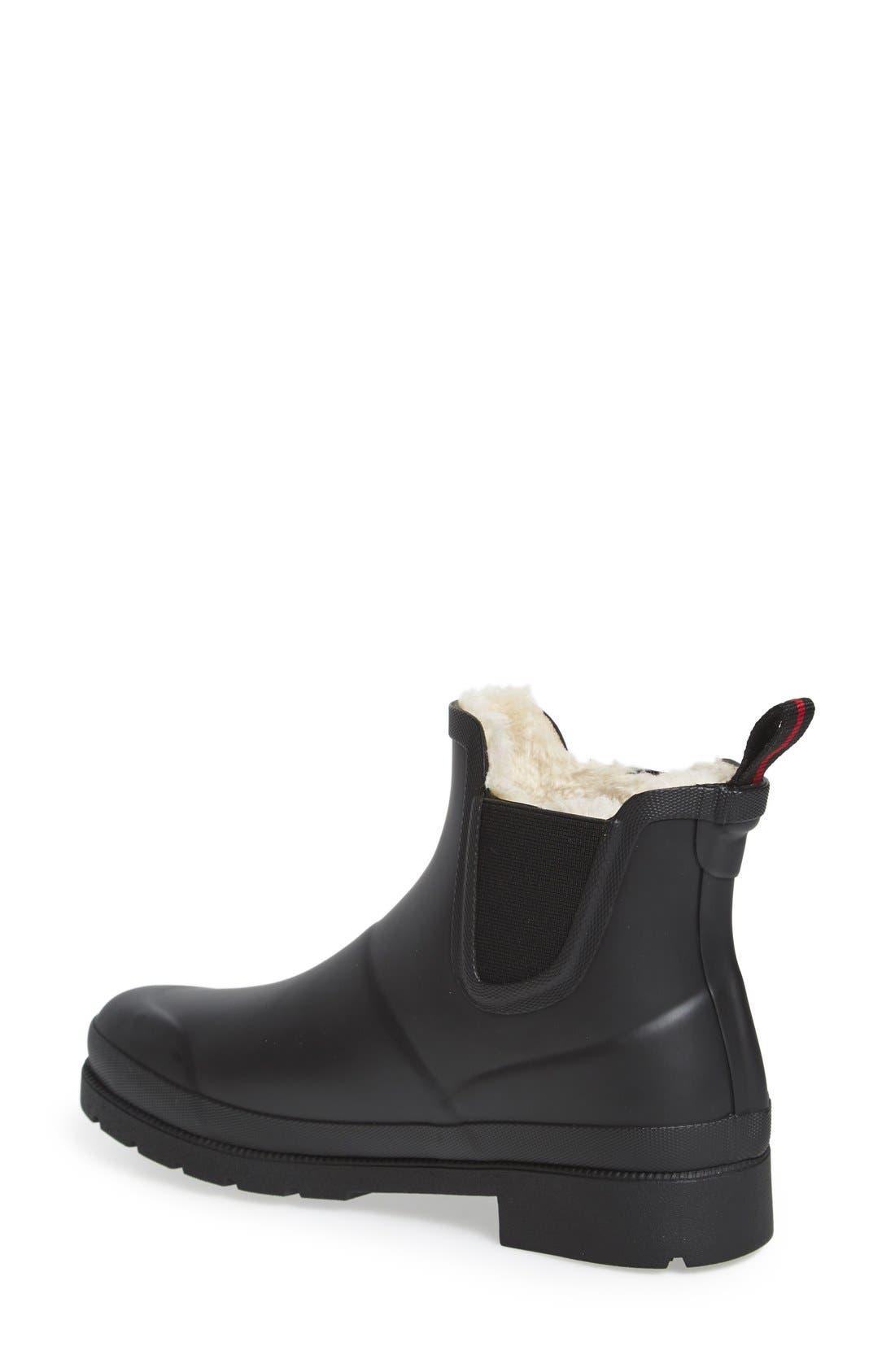 ,                             Chelsea Rain Boot,                             Alternate thumbnail 2, color,                             BLACK