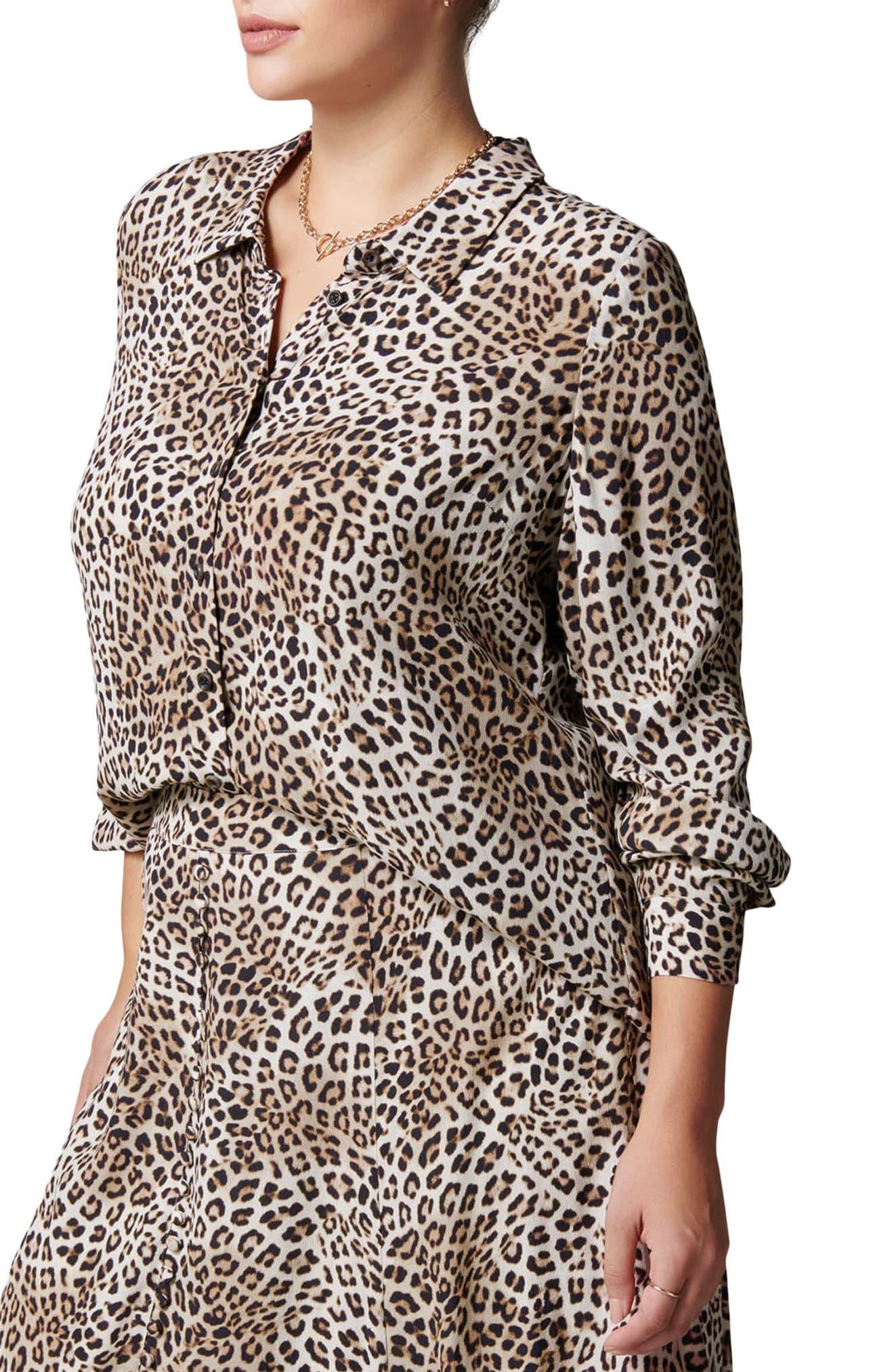 Gia Curve Button-Up Shirt