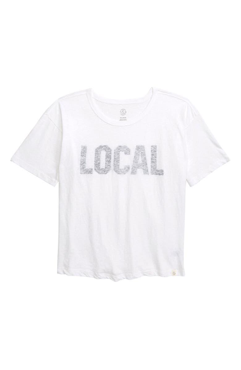 TREASURE & BOND Local Graphic Tee, Main, color, WHITE- BLACK LOCAL
