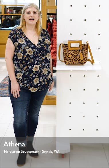 Amber Faux Leather Leopard Print Crossbody Tote, sales video thumbnail