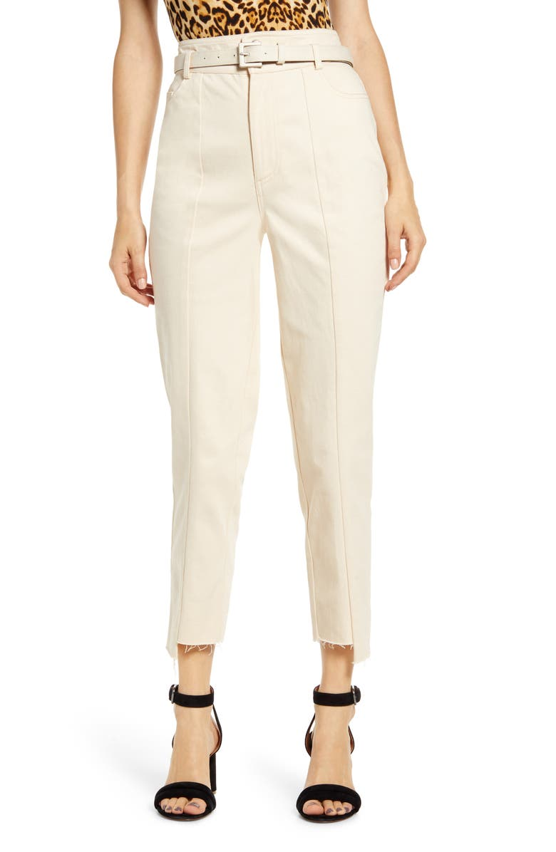 J.O.A. Belted Paperbag Waist Pants, Main, color, 250
