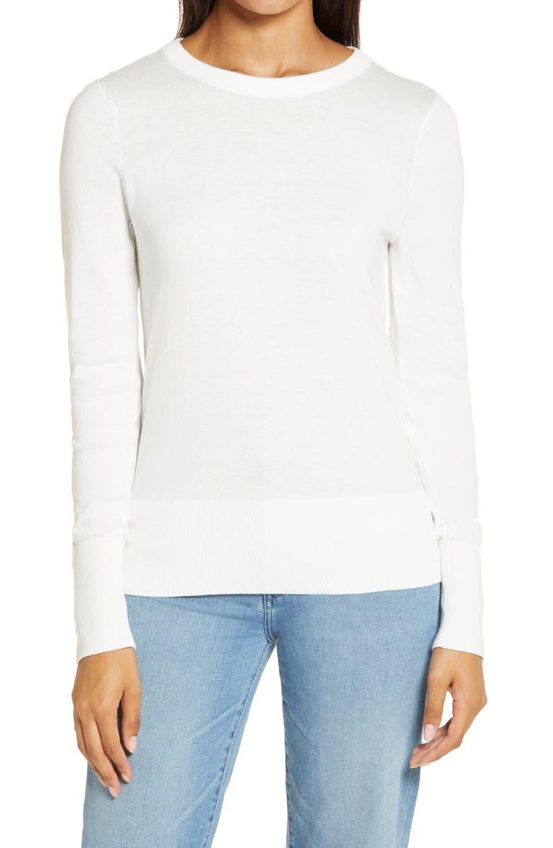 HALOGEN<SUP>®</SUP> Crewneck Sweater, Main, color, IVORY CLOUD