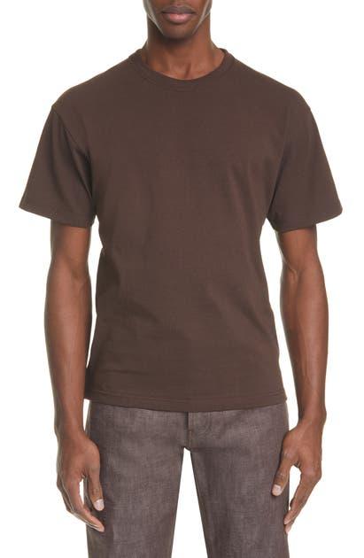 Bottega Veneta Cotton Crewneck T-shirt In 1000 Nero