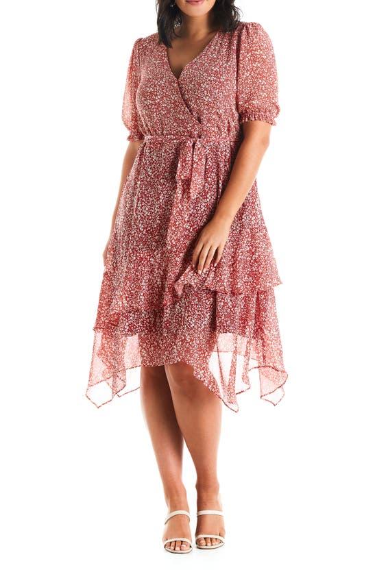 Estelle Midi dresses FLEUR WRAP DRESS
