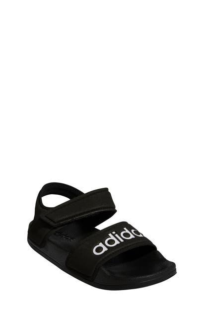 Adidas Originals Adidas Little Kids' Originals Adilette Athletic Sandals In Cblack/ftw
