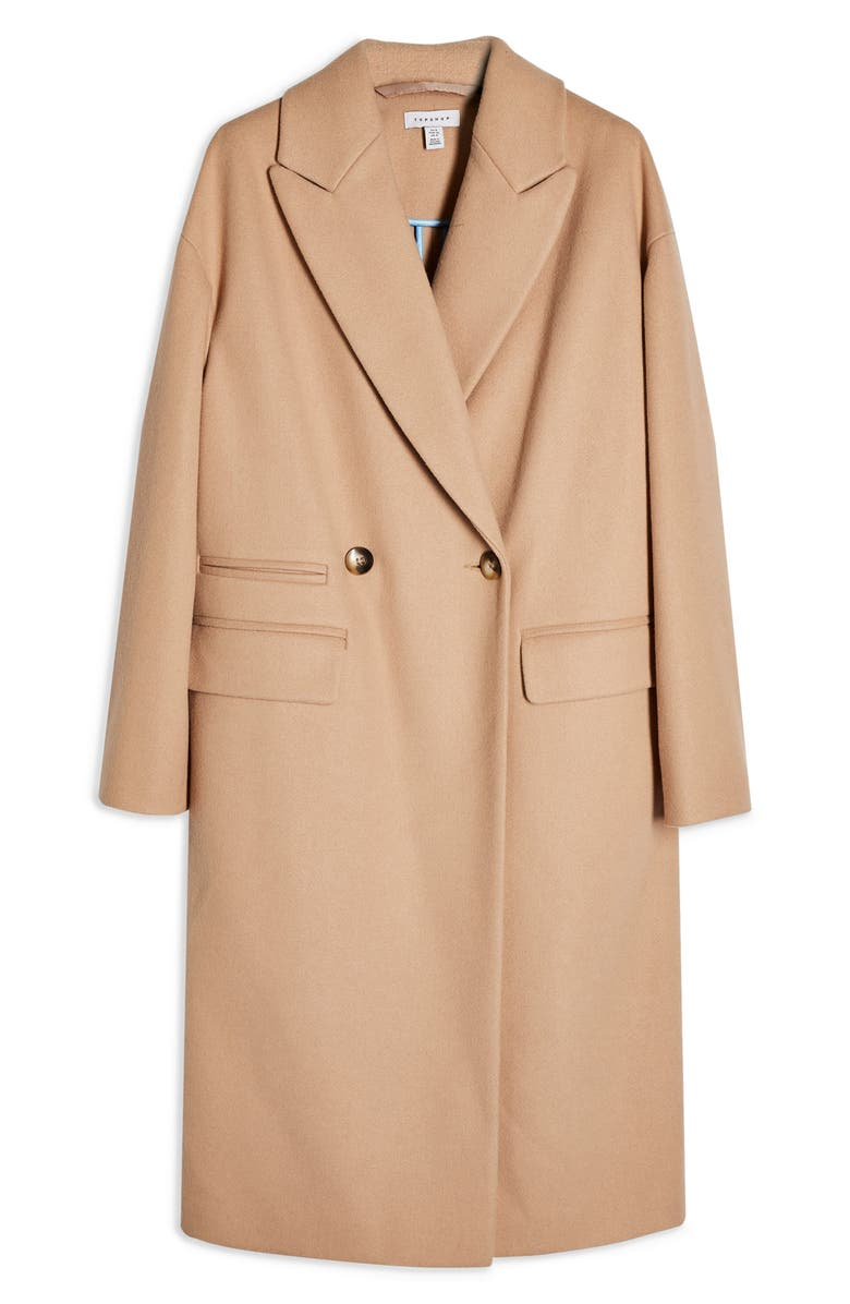 TOPSHOP Classic Double Breasted Coat, Alternate, color, 252