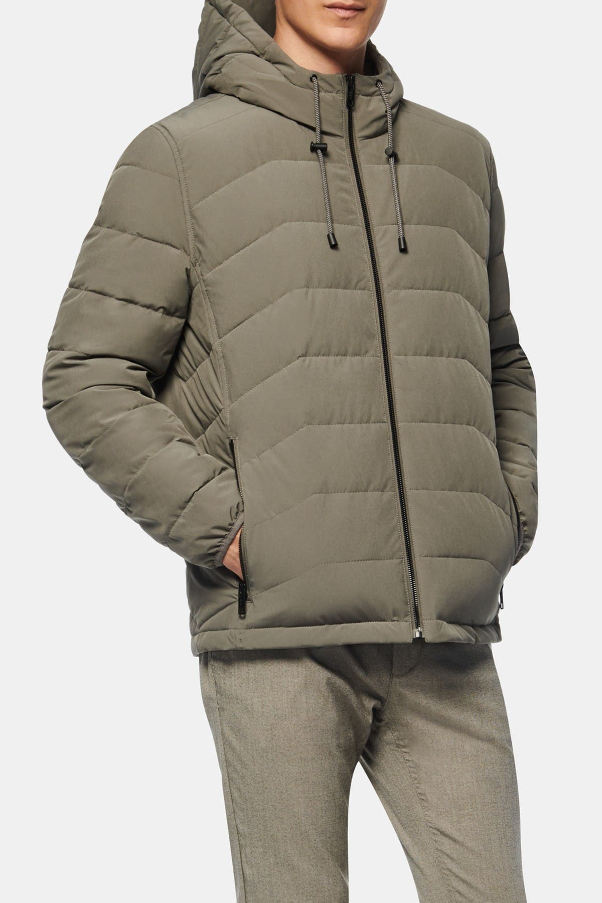 Image of Andrew Marc Claxton Packable Hooded Jacket